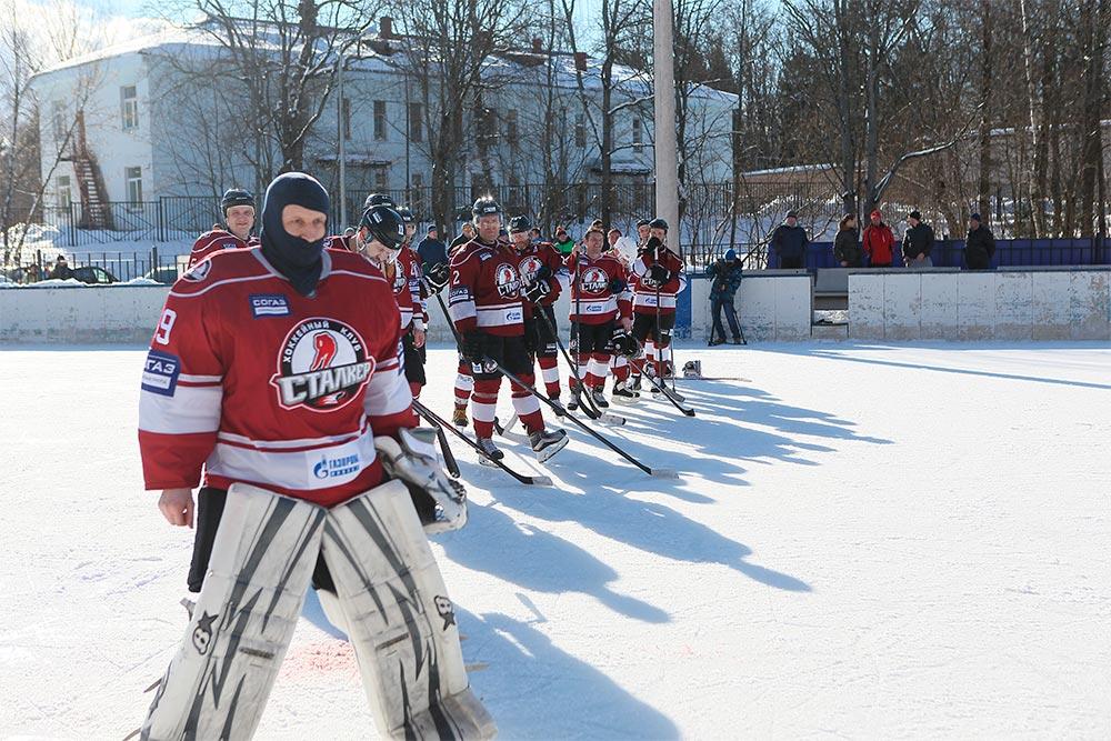 Сборная команда Сергиево-Посадского района и хоккейный клуб «Сталкер» сыграли вничью